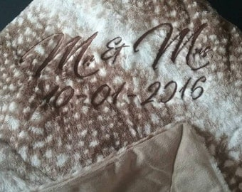Personalized blankets. Add your personal massage. Colors and styles will very and depend upon availability.