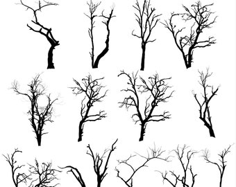 tree clipart tree silhouettes clipart halloween tree silhouettes nature clipart forest clipart - Black Halloween Tree