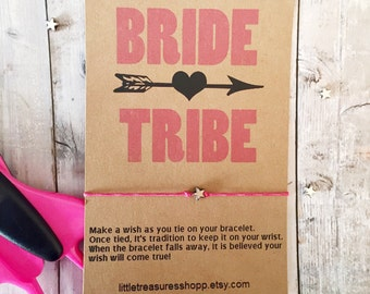 Bride Tribe, Bride Tribe Bracelet, Wish Bracelet, Wedding Wish Bracelet, Bridesmaid Wish Bracelet