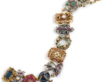 Antique Bracelet Antique Victorian 14k Yellow Gold Enamel