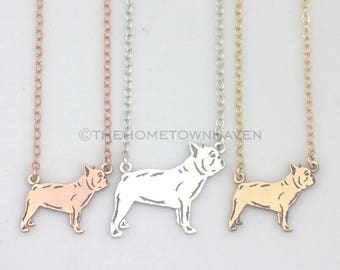 French Bulldog Necklace - Frenchie necklace, Frenchie lover