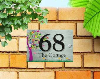 Custom Acrylic House Number Plaque