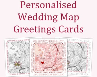 Personalised Wedding Map Greetings Card