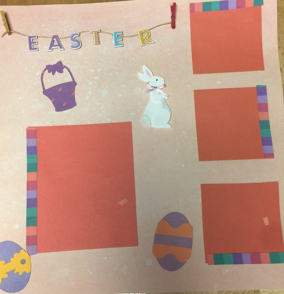Scrapbooking: Easter, 12x12 Premade Scrapbook Pge