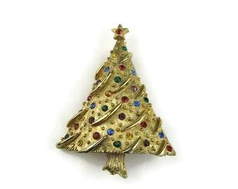 Vintage JJ Christmas Tree Brooch