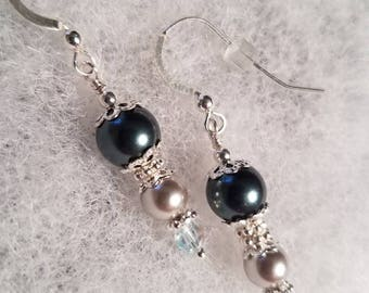 Sterling Silver Swarovski Pearl Earrings