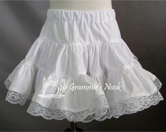 Girls Petticoat, Cotton Petticoat, Toddler Petticoat, Infant Petticoat, Made to Order