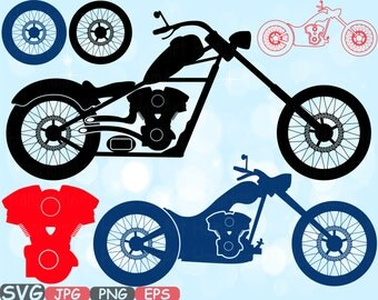 Choppers Monogram Motorbike Cutting Files SVG Motorcycle SVG Silhouette Motorcycle Clipart Clip Art Bunting Digital svg Vinyl sale -615S
