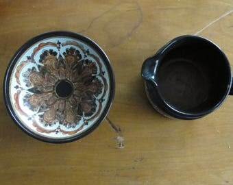 Set Of Two Danish Mid Century Modern Pottery Pieces