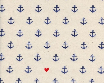 1 Yard S.S Bluebird Cotton and Steel Collaboration You're My Anchor Natural 5103-01