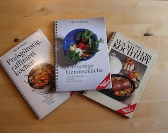 3 vintage Betty Bossi cookbooks in German
