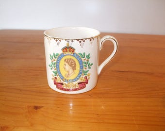 H & K Tunstall rare and unusual commemorative mug from the Coronation of Queen Elizabeth II in 1953