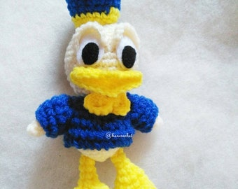 Donald duck amigurumi crochet: donald duck,doll,amigurumi, handmade, duck,diy,bancrochet,Thailand, doll Thailand, crochet,crochet doll,yarn