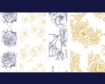 Floral Collection Envelope Liners