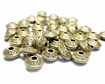 25 beads interlayer color bronze aged 6 mm
