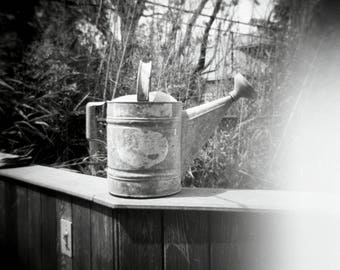 Watering Can, Fire Island NY, Holga, Lomography, fine art black and white photography print