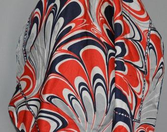 Richard Allan silk scarf / Silk / scarf / Harrods / London / 1960s / vintage scarf / vintage silk scarf / vintage Richard Allan scarf