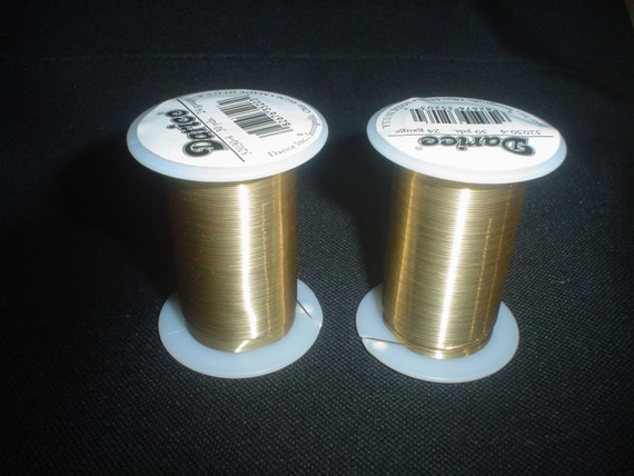 2 new 30 yard spools darice 24 gauge metal gold colored for 24 gauge craft wire