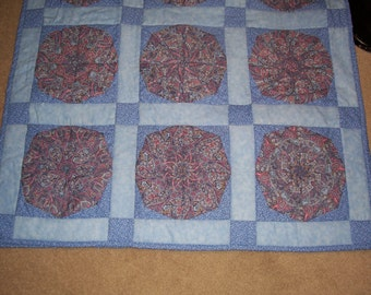 One Blue & One Purple Paisley Baby Blankets  All of my quilts will be 20% off through Sept. 30, 2017
