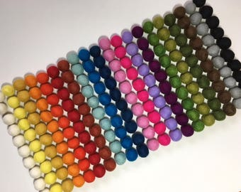 FREE shipping within CANADA!!! 50 Wool Felt Balls (2cm) Choose Your Colors.