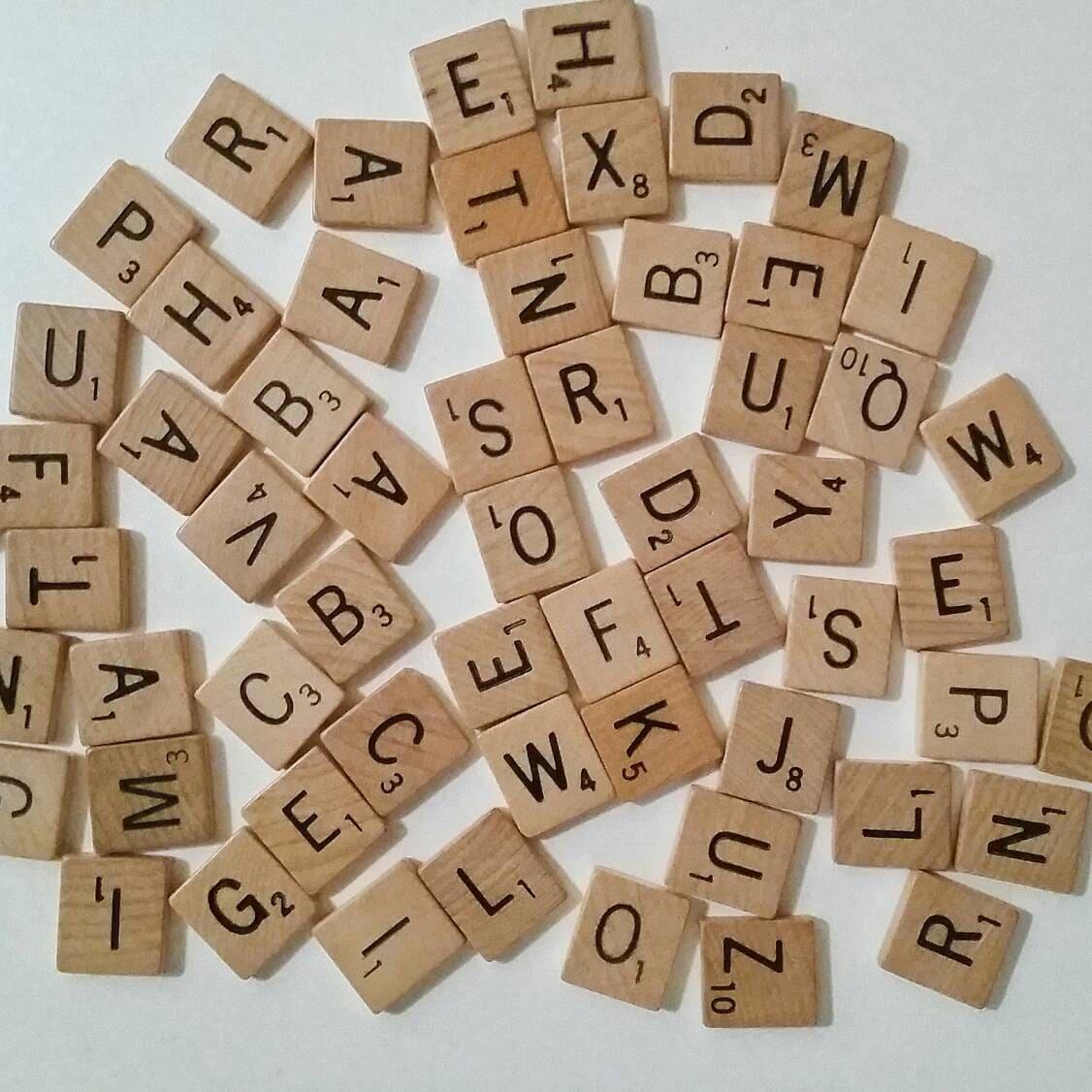 Custom Order Vintage Scrabble Tiles You Pick Your Letters