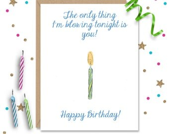 Blowing You Birthday,  Adult Funny Birthday, Funny Birthday Card, Adult Birthday Card, Birthday Wishes, Humorous Card, Funny Birthday Party