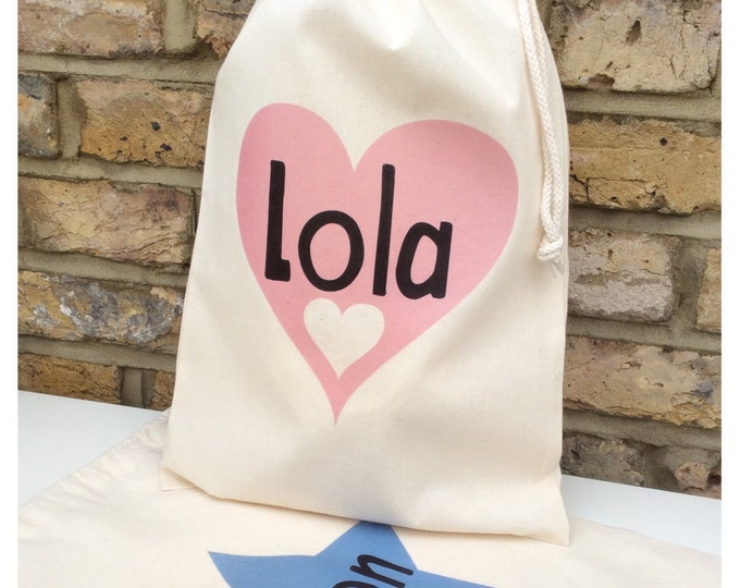 Personalised gift bag | Thank you gift | keepsake bag | Children's gift bag | Drawstring pouch | Tote bag.