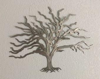 Metal tree  - Home Decor  - Wall Art - Metal Hanging Tree  Art - Metal Wall Art