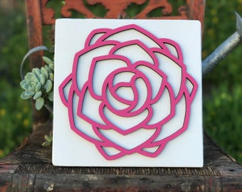 Laser Cut, flower, floral, bloom, wood sign, Mother's Day, flower sign, floral decor