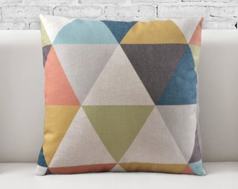 Pillow Cover, Pillow cases, 100% cotton fabric, Decorative Cushion, Throw Pillow, graphic pattern, geometric pattern, 018