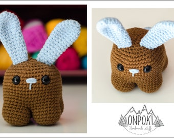 Handmade cute rabbit amigurumi crochet mini soft bunny toy decoration all ages - 32 colors to choose from!