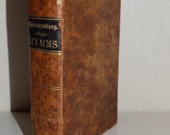 Collectible Antique 1862 German Hymn Book Liedersammlung Philadelphia Hymnal