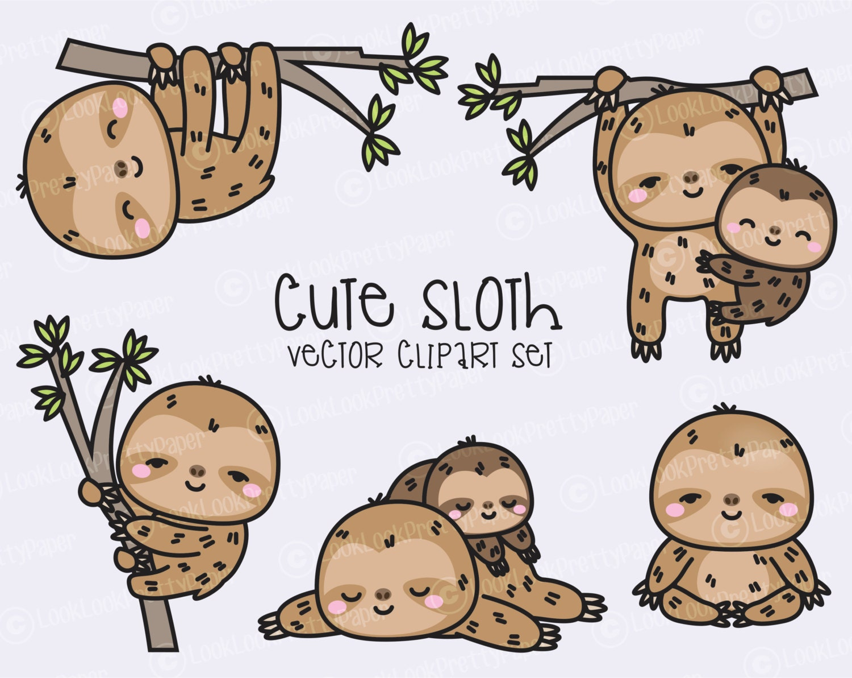 Sloth paper clip | Etsy