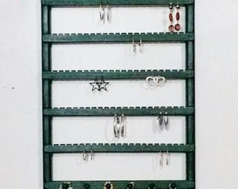 Jewelry Organizer, Earring holder, Wall Mount, Earring organizer, Earring display, Necklace Organizer, Necklace Storage, Necklace Display