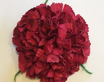 Vintage Red Triple Carnation Hair Flower Clip
