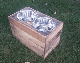 "12"" Tall Dog Bowl Stand"