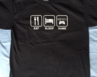 Eat, Sleep, Game (Roblox) Shirt, Gift for Kid, Under 25, Gaming