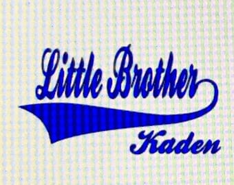 Little Brother Iron On   / Decal / Personalization / little brother decal / brother iron on