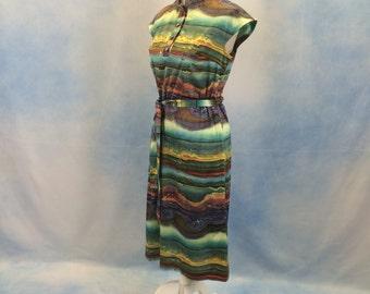 Vintage 1970s DL Barron Jersey Dress
