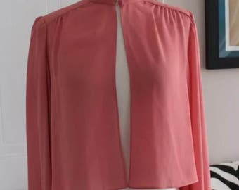 Norman Berg for Denise Fashion Vintage Top retro pinup blouse 70s