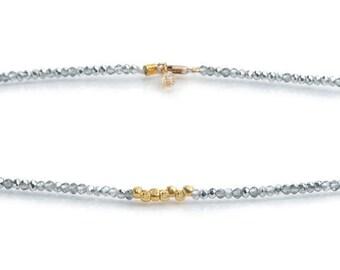 Eightfold Path Diamond Crystal Necklace