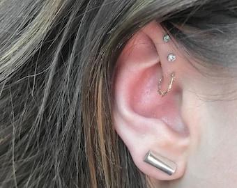 Stud earrings, silver earrings, ladies earrings
