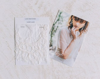 French Lace Swatches for tops  - Swatches, Swatch Card, Veiling Swatches