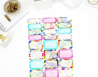 Watercolor Rose Half/Quarter Boxes Stickers! Perfect for your Erin Condren Life Planner, calendar, Paper Plum, Filofax!