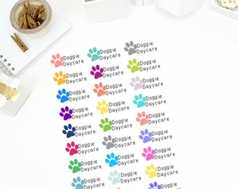 Doggie Daycare Pet Stickers! Dog Stickers! Perfect for your Erin Condren Life Planner, calendar, Paper Plum, Filofax!
