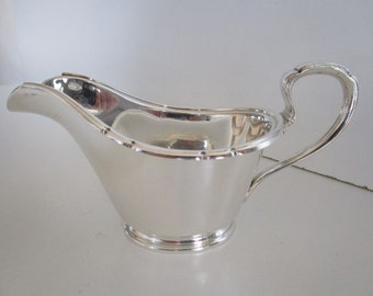 Silver Plated Sauce Boat, Gravy, Large, Walker & Hall, Sheffield, Circa 1930's..English, Vintage.