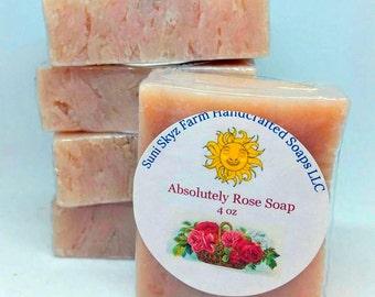 Absolutely Rose Soap - Rose Soap - Rose Absolute Soap - Handmade Rose Soap - Natural Rose Soap -Valentine Rose Soap-Handcrafted Rose Soap
