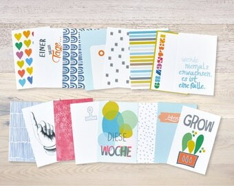 16 Journaling Cards 6,7 X 10,2 (3 X 4)  Planner