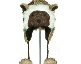 Adult hats with animal motif > warm and trendy