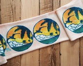 Hand Painted Art Sock Blank -- Beach Bum
